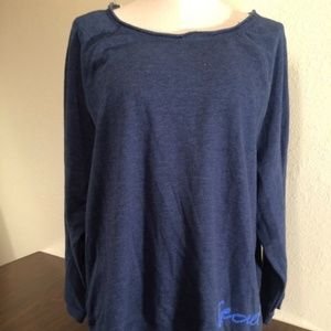 Victoria's Secret Blue Logo Sweatshirt - NWT
